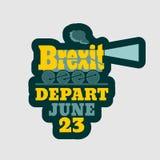 Relaciones de Gran Bretaña y de la UE Texto de Brexit Fotografía de archivo libre de regalías