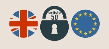 Relaciones de Gran Bretaña y de la unión europea Metáfora de Brexit Foto de archivo libre de regalías