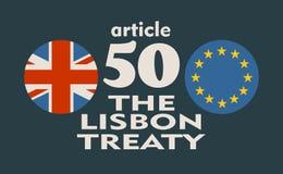 Relaciones de Gran Bretaña y de la unión europea Metáfora de Brexit Fotografía de archivo