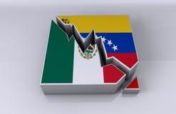 Relaciones de negocio de México y de Venezuela Foto de archivo libre de regalías