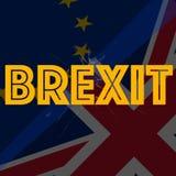 Relaciones diplomáticas en relación con de la imagen entre la unión de Europa y Reino Unido stock de ilustración