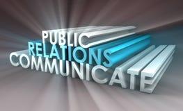 Relaciones públicas Imagen de archivo libre de regalías