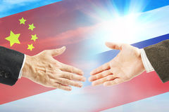Relações amigáveis entre Rússia e China Imagem de Stock