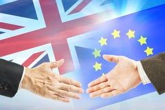 Relações amigáveis entre a União Europeia e a Grâ Bretanha Fotos de Stock Royalty Free