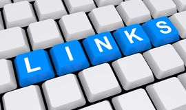 Relações no teclado Foto de Stock