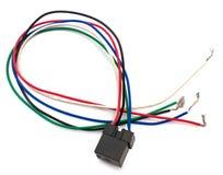 Relais électrique de partie avec des fils d'isolement sur le blanc Images libres de droits