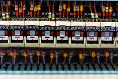 Relais électroniques. Photos stock