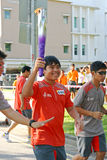Relais de torche des Jeux Olympiques 2010 de la jeunesse Images libres de droits