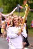 Relais olímpico 2012 de la antorcha Fotografía de archivo libre de regalías