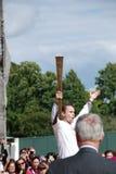 Relais olímpico de la antorcha Imagen de archivo libre de regalías