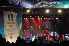 Relais olympique de torche à Toronto Image libre de droits