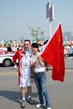 Relais olympique de torche Photographie stock