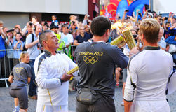 Relais olympique de torche de Londres 2012 Images stock