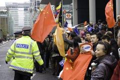 Relais olympique de torche de Pékin 2008 Photographie stock libre de droits