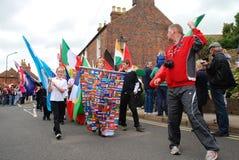 Relais olympique de torche, Rye Image libre de droits