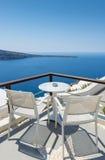 Relajándose en Santorini, Grecia Fotos de archivo