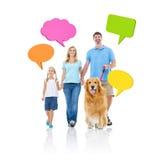 Relajación de la familia y concepto de la comunicación imágenes de archivo libres de regalías