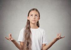 Relajación de la muchacha del adolescente, meditando Imagen de archivo