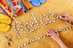 Relajación de la playa Imagen de archivo libre de regalías