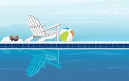 Relajación de Pool Fotografía de archivo libre de regalías