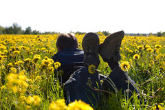 Relajación del verano Imagen de archivo libre de regalías