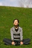 Relajación después de entrenamiento Imagenes de archivo