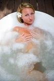Relajación en baño Foto de archivo