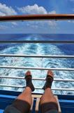 Relajación en el barco de cruceros Fotos de archivo