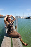 Relajación en el puerto deportivo Fotografía de archivo libre de regalías