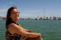 Relajación en el puerto deportivo Imagen de archivo