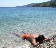 Relajación en Grecia Imagen de archivo