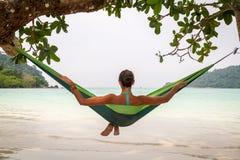 Relajación en hamaca Foto de archivo libre de regalías