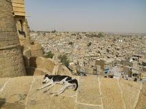 Relajación en Jaisalmer Foto de archivo libre de regalías