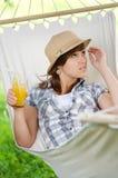 Relajación en la hamaca Foto de archivo libre de regalías