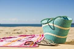 Relajación en la playa Fotos de archivo libres de regalías