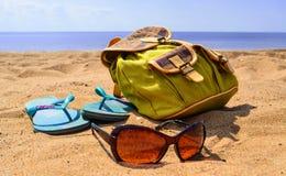 Relajación en la playa Fotografía de archivo libre de regalías