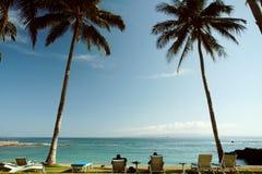 Relajación en la playa Foto de archivo libre de regalías