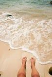Relajación en la playa 2 foto de archivo libre de regalías