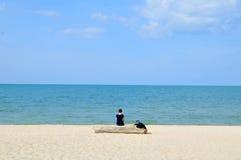 Relajación en la playa 2 Imagen de archivo