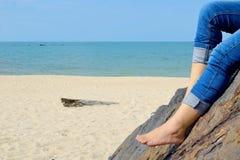 Relajación en la playa 3 Imagen de archivo libre de regalías
