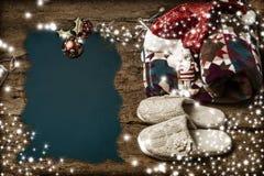 Relajación en la postal de la Navidad del día de fiesta Foto de archivo libre de regalías