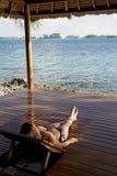 Relajación en las zonas tropicales fotografía de archivo