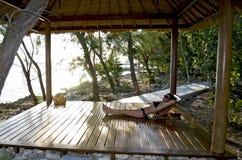 Relajación en las zonas tropicales imágenes de archivo libres de regalías
