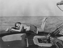 Relajación en un yate Fotografía de archivo