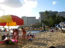 Relajación en Waikiki Fotos de archivo libres de regalías