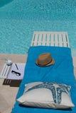 Relajación lateral de la piscina Imagen de archivo