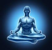 Relajación meditating de la espiritualidad de la yoga de la meditación stock de ilustración