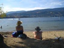 Relajación por la tarde en la playa Fotografía de archivo