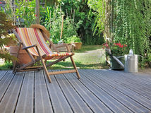 Relajación en terraza Fotografía de archivo