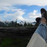 Relajación en un parque nacional más lluvioso del mt Fotografía de archivo libre de regalías